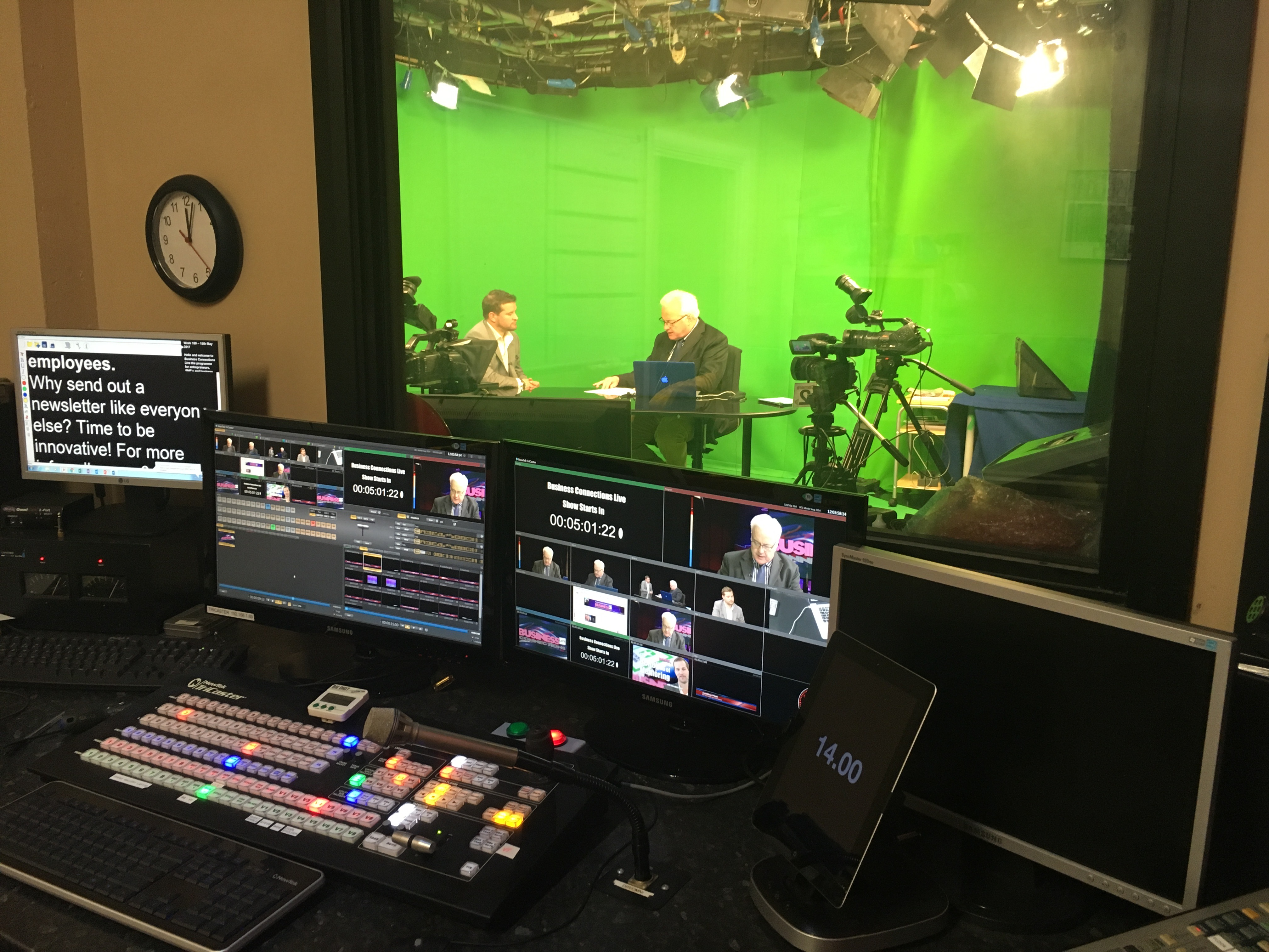 Retail Therapy Television Gallery: Tricaster, Autocue, Yamaha Digital Mixer, Adobe CC 2017
